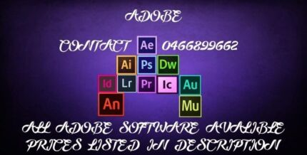 All softwares installation available (ADOBE , MICROSOFT, ANTIVIRUS)