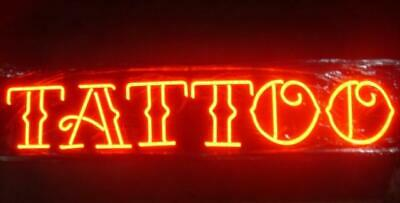 New Tattoo Piercing Red Neon Light Sign 24