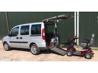Fiat doblo wheelchair access vehicle - WAV wheel chair disability