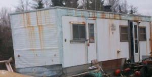 old office trailer good for frame and axles as is where is