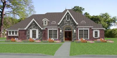 Custom House Home Build Plans French 3 bed Study 2812sf ---PDF FULL PERMIT SET