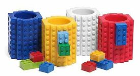 Lego build on mug / cup various colours