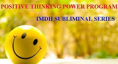 Positive Thinking Power Ultrasonic Subliminal Hypnosis Audio CD