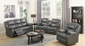 Sofa & Loveseat  recliner w/console,Storage &cup Holders