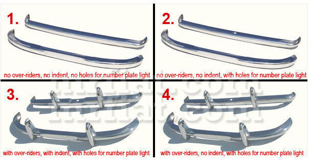 Datsun Roadster Fairlady Bumper Kit New