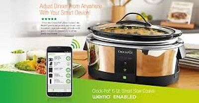 Crock-Pot SLOW COOKER, Easy To Clean Smart Wifi-Enabled WeMo 6-Quart CROCKPOT