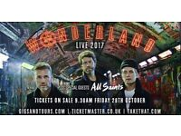 2 x Take That Wonderland Live 2017 Tickets - Standing - 9th June 17 - O2 Arena