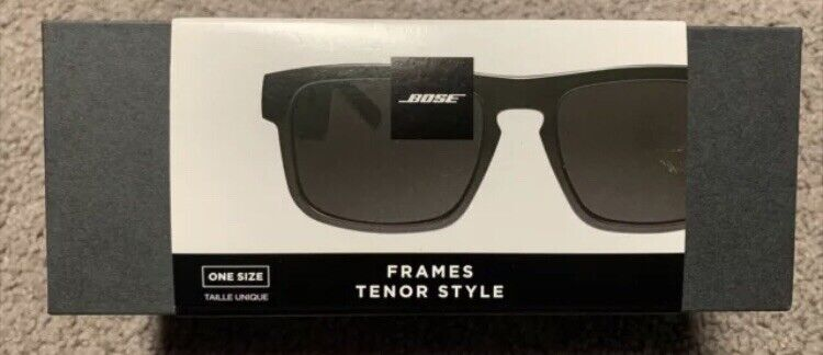 Bose Frames Tenor - Black Rectangular Bluetooth Audio Sunglasses - BRAND NEW!