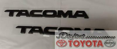 OEM TOYOTA TACOMA MATTE BLACK  DOOR EMBLEMS 2010-2018 75427-04041 SET OF 2