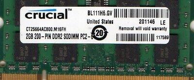 - 2GB Acer Aspire One D150 D250 D255 D260 P531 DDR2 Netbook/Notebook RAM Memory