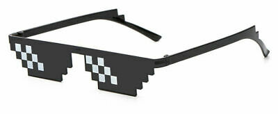 New Thug Life Attitude Sunglasses 8 Bit Pixel Deal With IT Unisex Glass Eyewear - 8 Bit Sunglasses