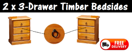 Bedside Chest of Drawers x 2 BRAND NEW and with FREE DELIVERY