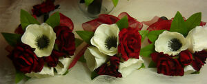 So Pretty Red, Black & White Wedding Bouquet Flower Package. London Ontario image 4