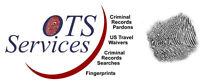 FINGERPRINTS, RECORD SUSPENSIONS (PARDONS), U.S. TRAVEL WAIVERS