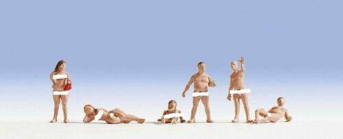 HO scale Noch SIX Nude Bathers FIGURES # 15843