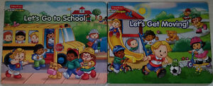 FP Little People Let's Go to School & Get Moving! BOARD Books