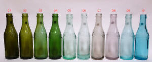 Coca-Cola Canada Straight Sided colored bottle set / Bouteilles