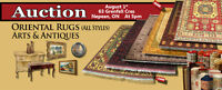 BIG AUCTION in OTTAWA  -  Oriental Rugs, Art & Antiques  AUG 1st