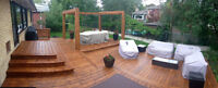 Deck twins: deck sanding, staining, and repair