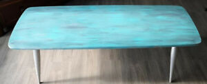 "Amazing Eye Catching Coffee Table ""Carribean Splash"""