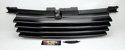 VW Jetta Bora MK4 99-04 Black Euro Front Hood Badgeless Grill W/ Notch Filler