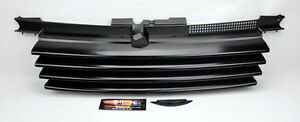 VW Jetta Bora MK4 99-04 Black Euro Front Hood Badgeless Grill W/ Notch Filler