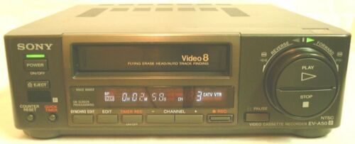 SONY EV-A50 VIDEO 8MM VCR DECK WORKS GREAT FOR 8MM TAPE TO TRANSFER VIDEO TO DVD