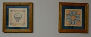 """2 Small Wood Framed Prints from artist """"LIBBIE"""""""