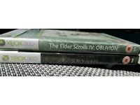 Xbox 360 Elder Scolls IV Oblivion and V Skyrim