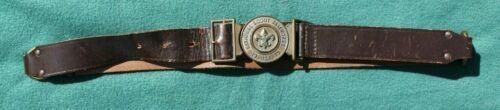 1973 NATIONAL SCOUT JAMBOREE BOY SCOUT BELT BUCKLE & BELT  ABOUT 33 INCH WAIST
