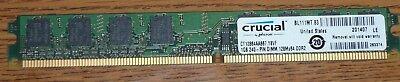 Memory 1GB 240-PIN DIMM 128Mx64 DDR2 PC2-5300 VLP CT12864AA667 - Vlp Dimm Memory
