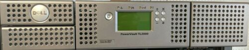 Dell PowerVault TL2000 LTO SAS Tape Library w/2*LTO-4 45E2030 N8V0K Tested