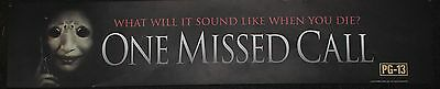 One Missed Call, Large (5X25) Movie Theater Mylar Banner/Poster