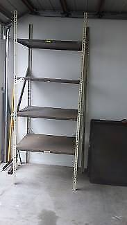 metal shelving unit - suit tools, shed, work room