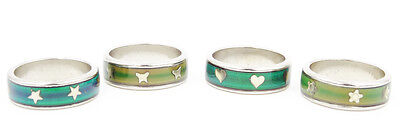 Classic Style New Color Changing Mood Rings Star Heart Butterfly Flower  Mr9