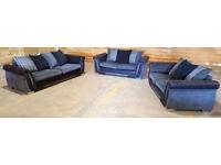 4 & 2 x 2 Seater sofas grey/black.