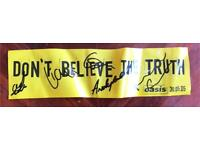 Oasis fully signed don't believe the truth