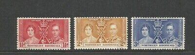 Northern Rhodesia 1937 Coronation Very Fine Used Set SG 22/24