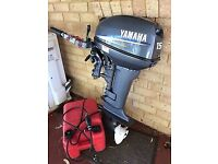 2012 YAMAHA 15HP SHORT SHAFT OUTBOARD ENGINE / PERFECT CONDITION / FSH / ALL DOCS / COST NEW £2,450!