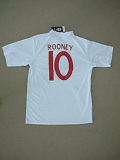 NEW ENGLAND WAYNE ROONEY SOCCER FOOTBALL SHIRT JERSEY