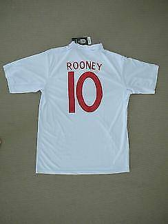NEW ENGLAND WAYNE ROONEY SOCCER FOOTBALL SHIRT JERSEY