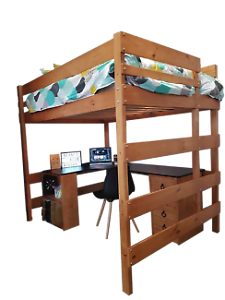 bunkers timber queen loft bed - Bunkers Loft Bed