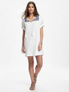 Women Old Navy white cotton embroidered shift dress Size XL NWT London Ontario image 7