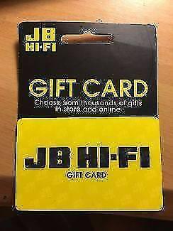 JB hi fi gift card value of $200