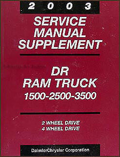 2003 Dodge Ram 47RE Automatic Transmission Shop Manual 2500 3500 Diesel Truck