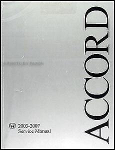 2003 Honda Accord Manuals