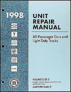 1998 GM Manual Transmission Rebuild Book Pontiac GMC Chevrolet all inc Corvette