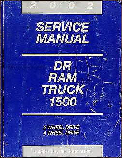 2002 Dodge Ram 1500 Pickup Truck Original Shop Manual OEM Repair Service Book