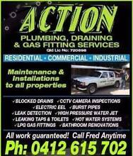ACTION PLUMBING SERVICES; CALL FRED ANYTIME. Robina Gold Coast South Preview