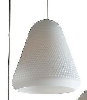 Eden glass pendant light by Heal's - Cone shape - BNIB